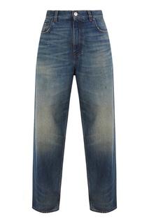 Синие широкие джинсы Balenciaga