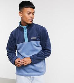 Синяя флисовая куртка с планкой на кнопках Columbia Steens Mountain – эксклюзивно на ASOS-Голубой