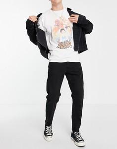 Свободные джинсы до щиколотки черного цвета Selected Homme-Черный цвет