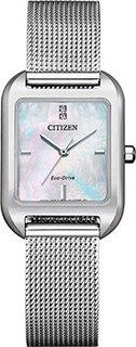 Японские наручные женские часы Citizen EM0491-81D. Коллекция Eco-Drive