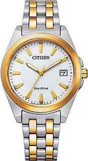 Японские наручные женские часы Citizen EO1214-82A. Коллекция Eco-Drive