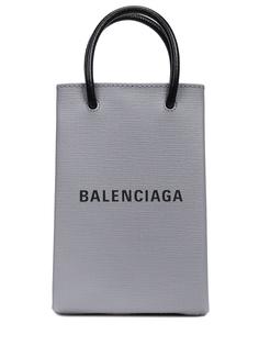 Сумка-мини кожаная Shopping Balenciaga