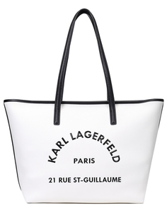 Сумка-тоут кожаная Karl Lagerfeld