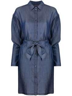 Emporio Armani джинсовое платье с завязками