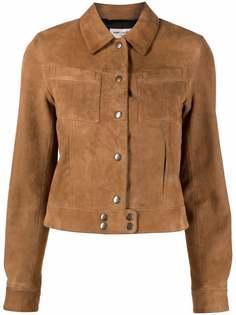 Saint Laurent куртка на кнопках с карманами