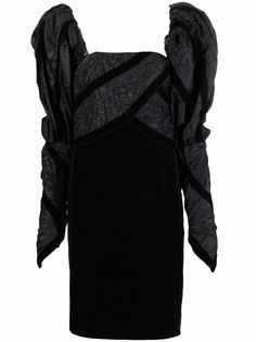 Chanel Pre-Owned платье 1990-х годов с объемными рукавами