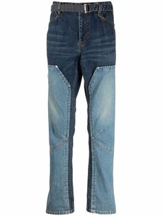 Sacai джинсы с поясом