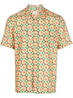 Lacoste рубашка с короткими рукавами и геометричным принтом