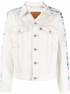 Levis джинсовая куртка с принтом тай-дай