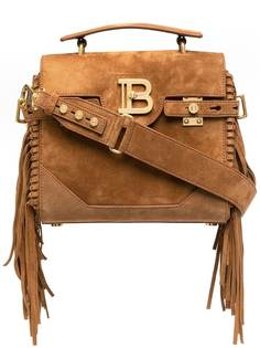 Balmain сумка-тоут B-Buzz 23 с бахромой