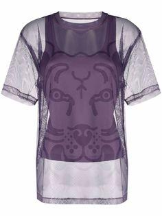 Kenzo многослойная футболка с узором Tiger