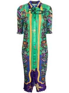 Versace платье-рубашка с принтом