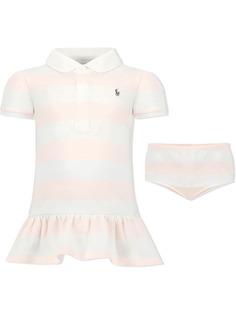 Ralph Lauren Kids платье с воротником поло и вышитым логотипом