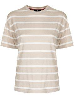 PS Paul Smith футболка в полоску с эффектом металлик