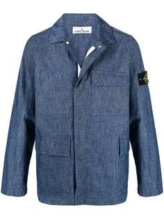 Stone Island джинсовая куртка-рубашка