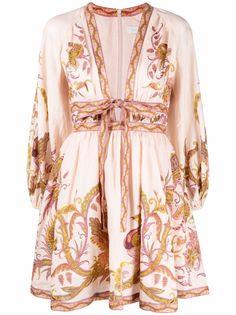 ZIMMERMANN платье мини Cassia с принтом