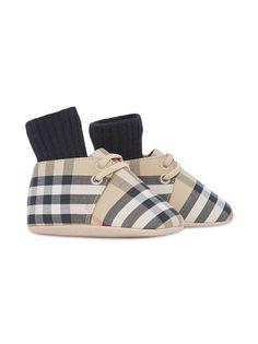 Burberry Kids ботинки в клетку Vintage Check