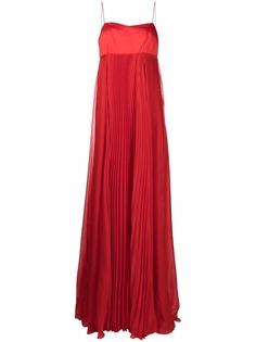 Pinko расклешенное шифоновое платье