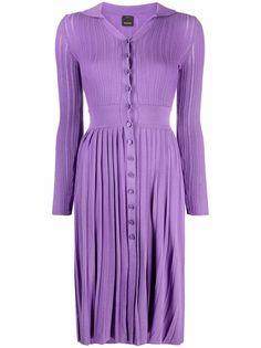 Pinko трикотажное платье миди с люрексом