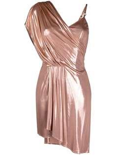 Elisabetta Franchi платье мини асимметричного кроя с драпировкой