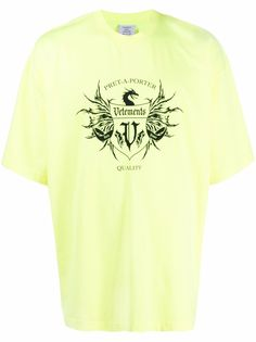 VETEMENTS футболка оверсайз с логотипом