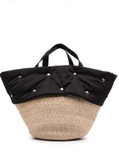 Comme Des Garçons Tricot сумка-тоут со вставкой из рафии