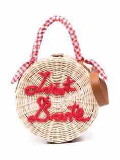Mc2 Saint Barth Kids соломенная сумка с вышитым логотипом