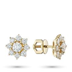 Пусеты из золота с бриллиантами э0301пс07163700 ЭПЛ Якутские Бриллианты