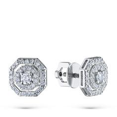 Пусеты из золота с бриллиантами э0901пс11172700 ЭПЛ Якутские Бриллианты