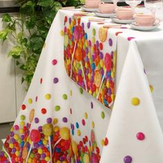 Скатерть на стол с пропиткой Di Milano Смартик разноцветная 140х180 см