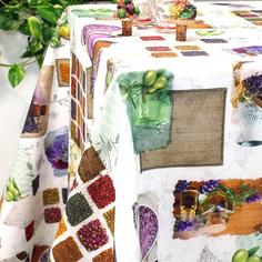 Скатерть на стол с пропиткой Di Milano Специи разноцветная 140х270 см