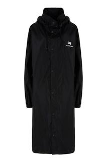 Черный плащ с капюшоном Balenciaga