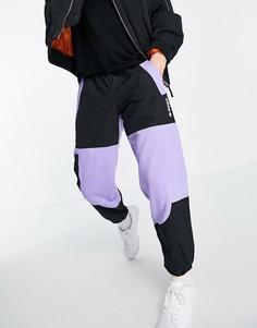 Светло-фиолетовые джоггеры в стиле колор блок adidas Originals Adventure-Фиолетовый цвет