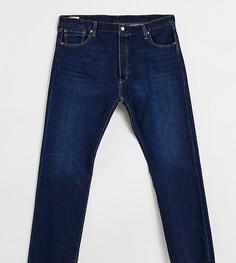 Темные джинсы классического кроя с застежкой на пуговицы Levis Big & Tall 501 Original-Голубой