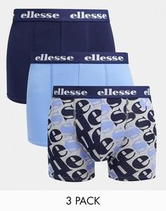 Набор из 3 боксеров голубого и темно-синего цвета ellesse-Многоцветный