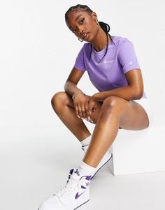 Фиолетовая футболка с маленьким логотипом Champion-Фиолетовый цвет
