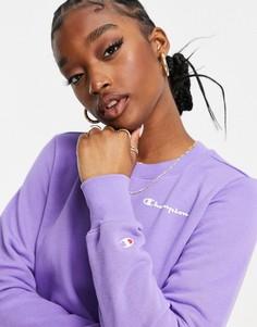 Фиолетовый свитшот с маленьким логотипом Champion-Фиолетовый цвет