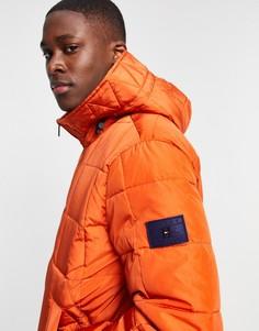 Оранжевый пуховик Tommy Hilfiger-Оранжевый цвет