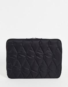 Черный стеганый чехол для 13-дюймового ноутбука ASOS DESIGN-Черный цвет