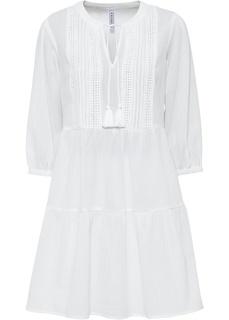 Платье-рубашка с кружевом Bonprix