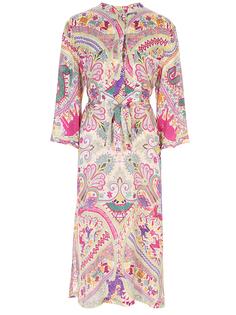 Платье-рубашка из вискозы с принтом Etro