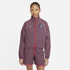 Женская куртка из тканого материала Paris Saint-Germain - Красный Nike