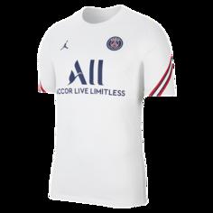 Мужская игровая футболка с коротким рукавом Paris Saint-Germain Strike Home - Белый Nike
