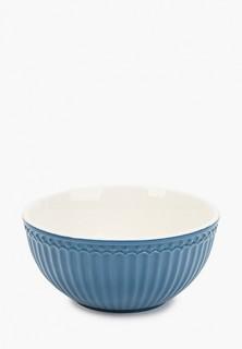 Салатник Greengate Alice ocean blue 14 см