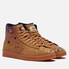 Кеды Converse x Bandulu Pro Leather High, цвет коричневый, размер 42 EU