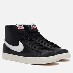 Мужские кроссовки Nike Blazer Mid 77 Vintage, цвет чёрный, размер 45 EU