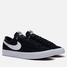 Мужские кроссовки Nike SB Zoom Blazer Low Pro GT, цвет чёрный, размер 46 EU