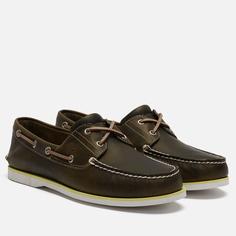 Мужские ботинки Timberland 2-Eye Classic Leather, цвет оливковый, размер 45.5 EU
