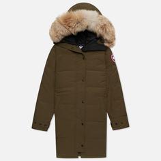Женская куртка парка Canada Goose Shelburne, цвет оливковый, размер M