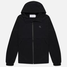 Мужская куртка Calvin Klein Jeans Logo Zip Through, цвет чёрный, размер S